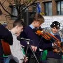 Music at the Human Rights & Poverty Stone, Dublin, October 17