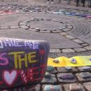Wishing Stones placed on the Human Rights and Poverty Stone, Dublin